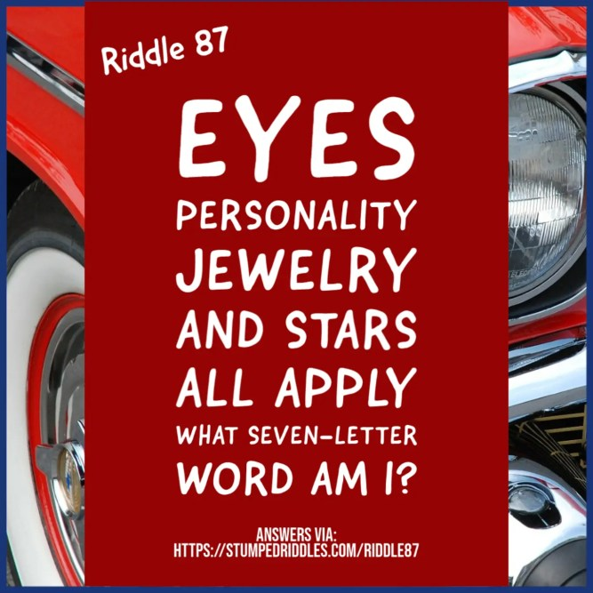 A riddle that might brighten a day - Riddle 87 on StumpedRiddles