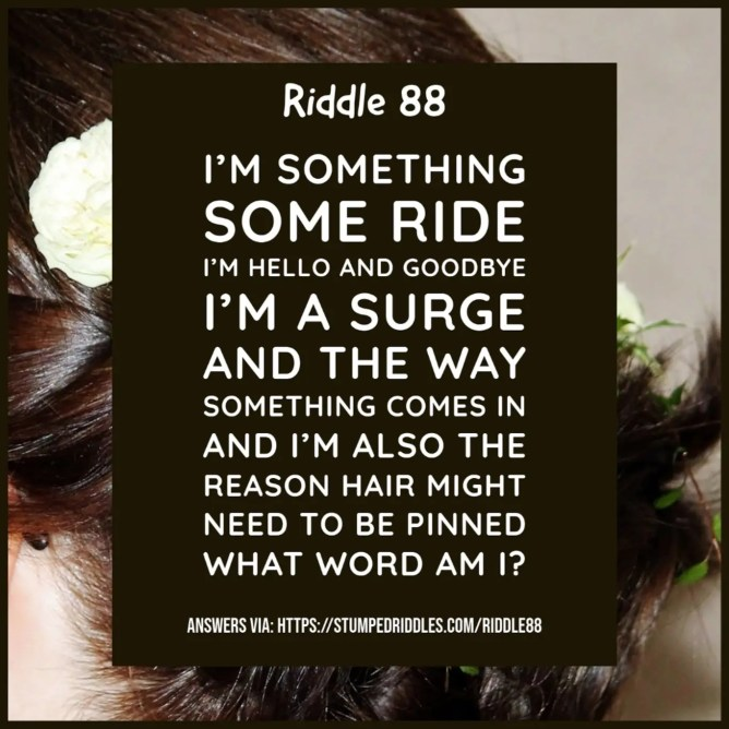 Riddle 88 on Stumpedriddles