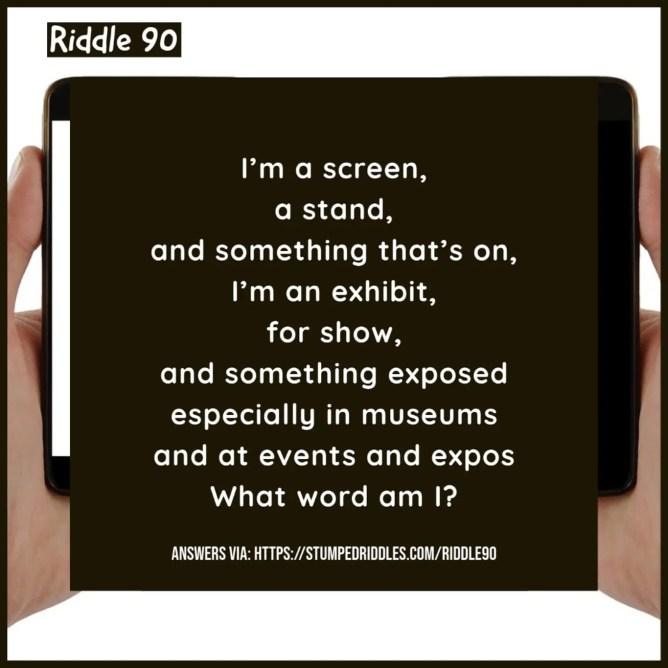 Riddle 90 on StumpedRiddles