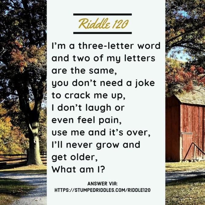 Riddle 120 on StumpedRiddles