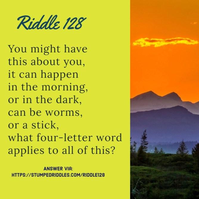 Riddle 128 on StumpedRiddles