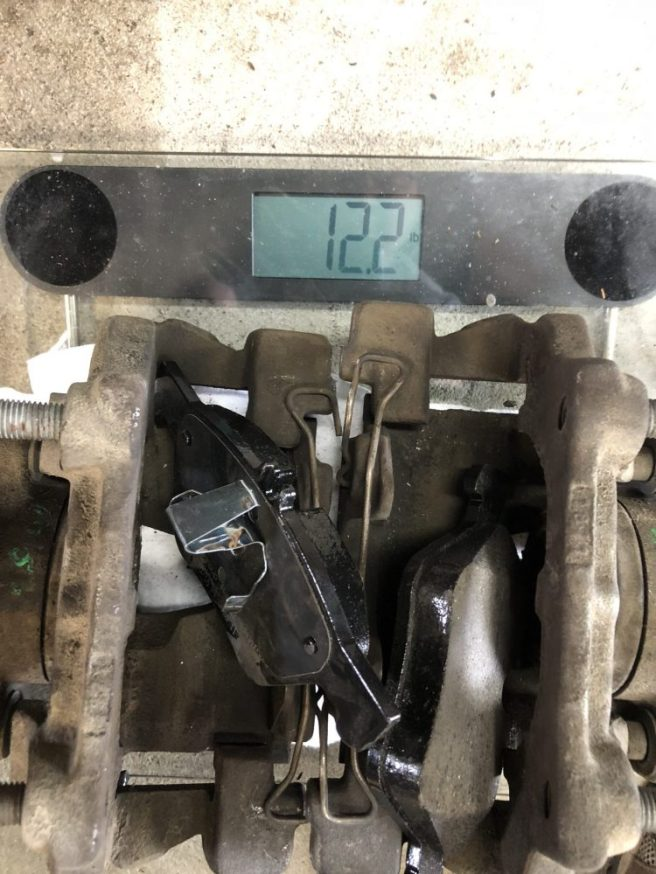 Weight of CLK430 Calipers