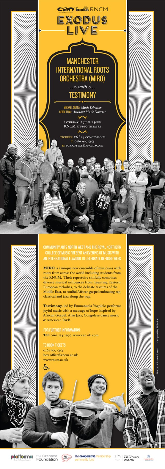 Manchester International Roots Orchestra event e-flyer