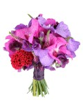 Veronica, sweet peas and hydrangeas bouquet