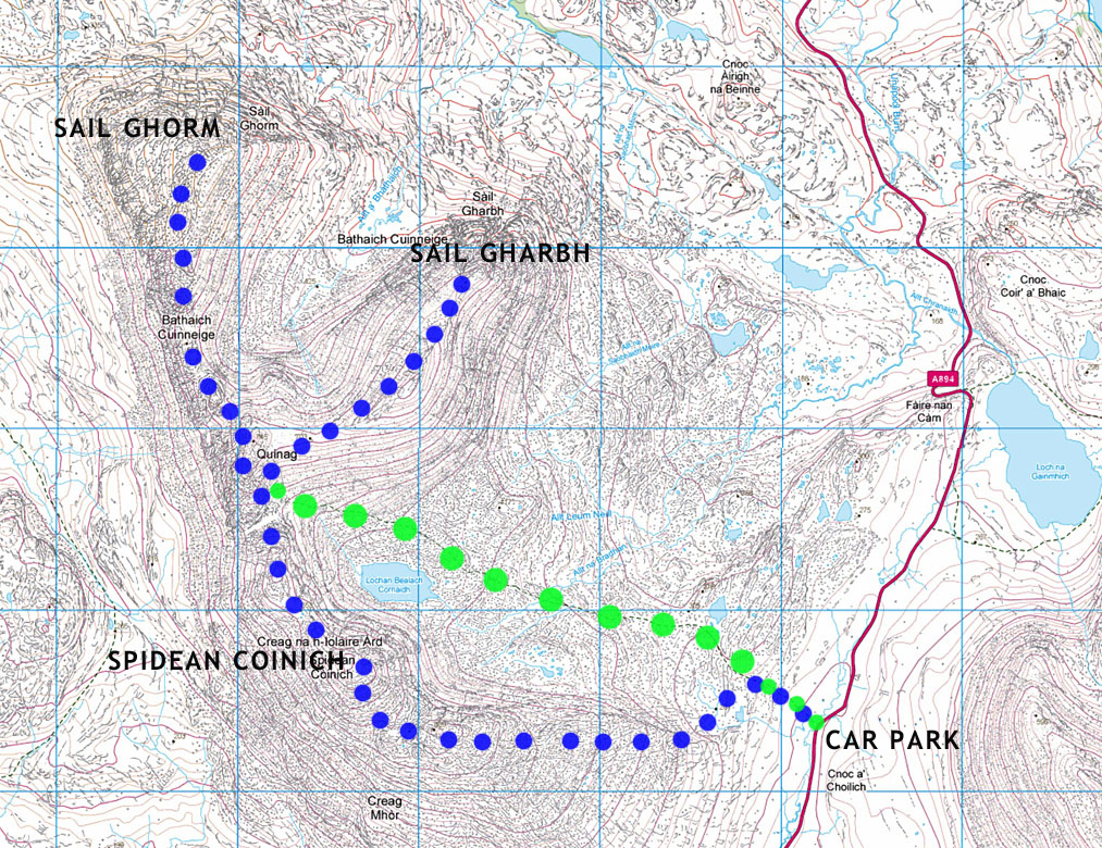 quinag hiking map