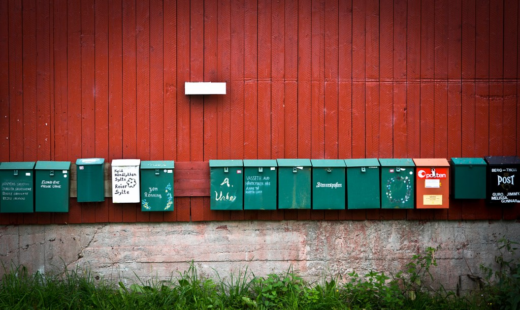 post boxes in Urke