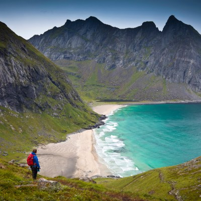 Kvalvika Beach and Ryten hike in Lofoten