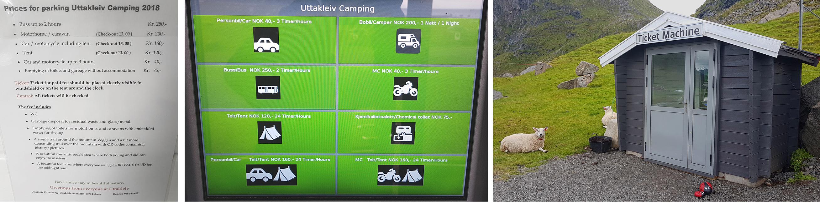 camping at uttakleiv