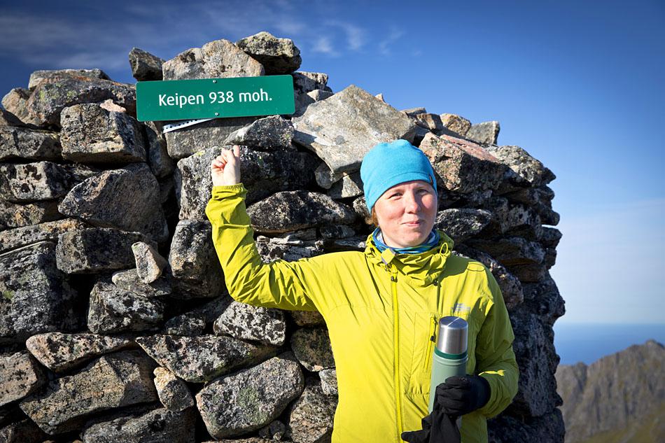 At the summit of Keipen Senja