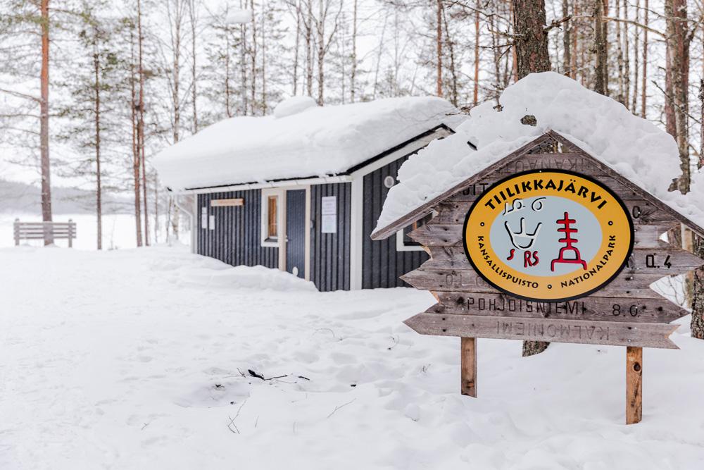 Entry to Tiilikkajärvi National Park