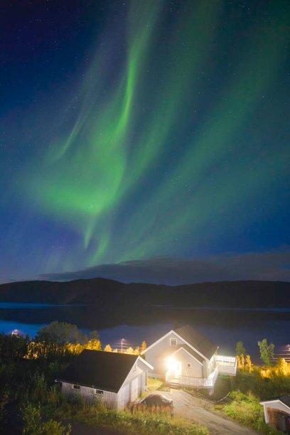 Northern lights in Botnham, Senja Norway