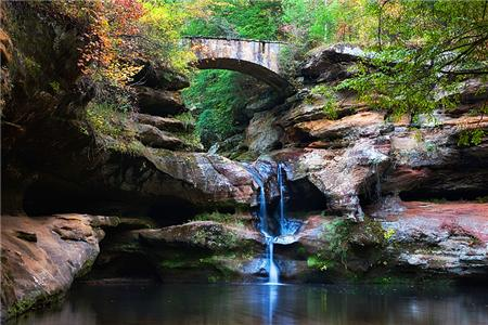 Part of Old Man's Cave in Hocking Hills. Can't wait to go hiking there.