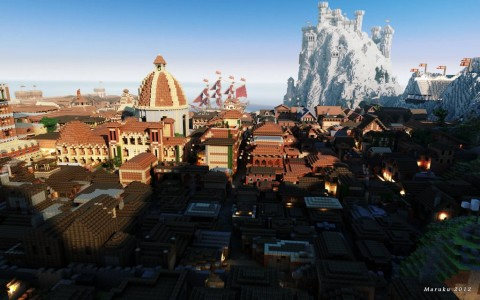 From Forbes.com Westeros Kings Landing in Minecraft.