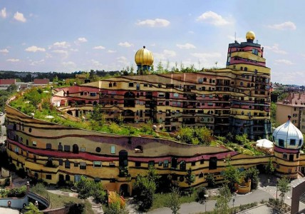Waldspirale by Friedensreich Hundertwasser in Darmstadt, Germany