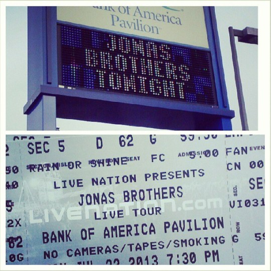 The marquee from my first Jonas Brothers concert.