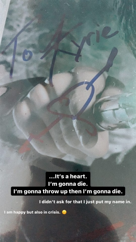 A photo of the heart Matt drew on the signed photo