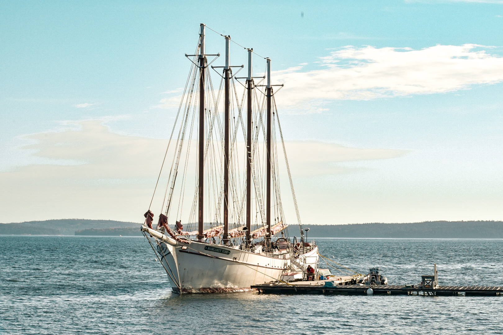 A beautiful old boat at the port in Bar Harbor