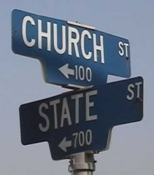Pic of Church and State street signs.