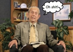 Harold Camping at 6:01PM Saturday, May 21st, 2011.