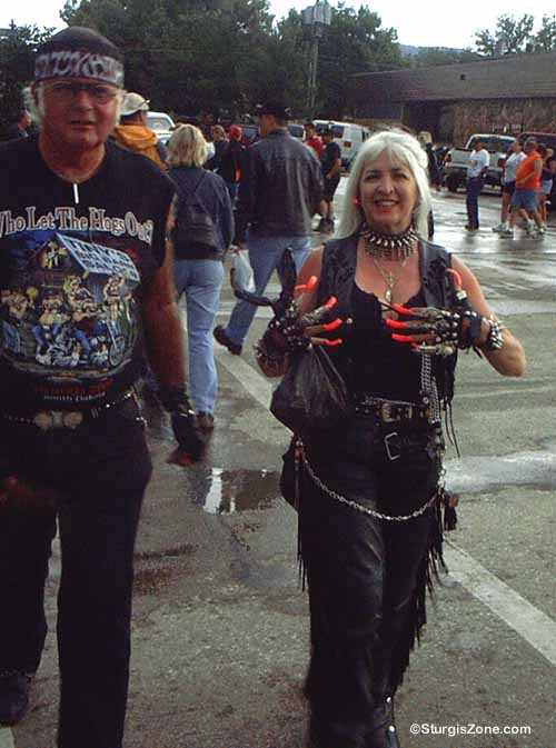 Sturgis SD Photos Woman Claws