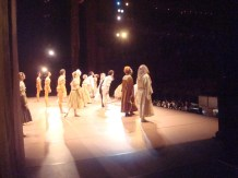 """Bowing after a beautiful performance of """"The Taming of the Shrew"""""""