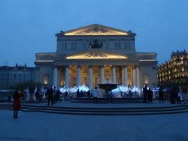 The Bolshoi Theatre at night
