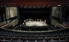 Company class on stage