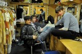 Pablo von Sternenfels, Alexander Mc Gowan and Roger Arce Neves in the dressing room
