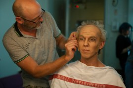 Jörg Müller transforms Robert Robinson into an old man for the second act