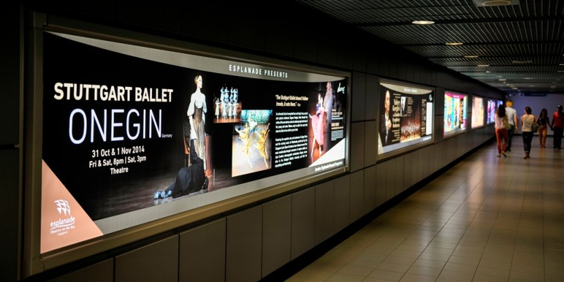 Advertising for our performances in Singapore