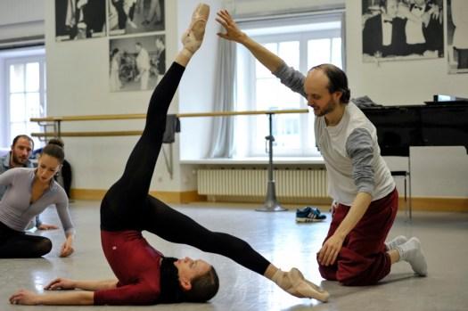 During the Firebird rehearsal: Anna Osadcenko and Sidi Larbi Cherkaoui