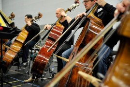 Orchestra rehearsal for Stravinsky TODAY