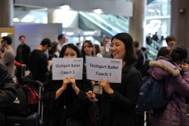 So-Hyun Shin and Yoon Seo from Credia assist with our arrival ...