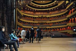 Onstage at the Opera House before a rehearsal.