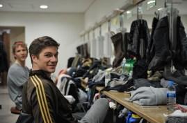 Matteo Crockard-Villa and Alexander McGowan in their dressing room.