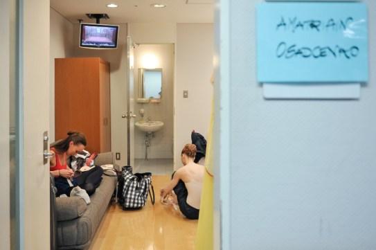 Anna Osadcenko and Alicia Amatriain in their dressing room