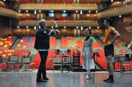 Reid Anderson with Miriam Kacerova and Constantine Allen in a rehearsal of Romeo and Juliet.