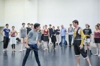 Rehersal of Romeo and Juliet: Pablo von Sternenfels as Mercutio, Robert Robinson as Tybalt