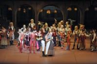 A happy Romeo: Constantine Allen with Daniela Lanzetti as Juliet's nurse