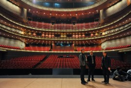 Tamas Detrich, Reid Anderson, Krzysztof Nowogrodzki on the stage of the National Center for the Performing Arts