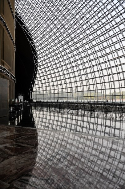 The entrance of the huge theatre in Beijing