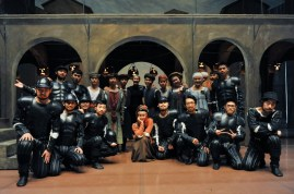 Group photo: Angelika Bulfinsky with her group of supers in Beijing