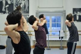 Rehearsal for Marco Goecke's Le Spectre de la Rose with Alessandra Giaquinto, Adhonay Soares da Silva, Kirill Kornilov, Kieran Brooks