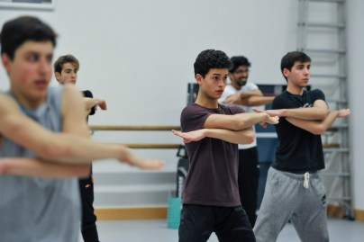 Rehearsal for Marco Goecke's Le Spectre de la Rose with Adhonay Soares da Silva, Timoor Afshar, Enes Comak, Flemming Puthenpurayil, Teagan Richman-Taylor
