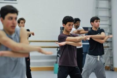Rehearsal for Marco Goecke's Le Spectre de la Rose with Adhonay Soares da Silva, Timoor Afshar, Enes Comak, Flemming Puthenpurayil, Teagan Richman-Taylor