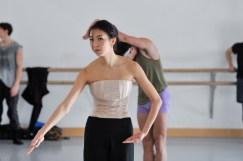 Agnes Su rehearsing Marco Goecke's Le Spectre de la Rose