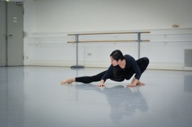 Hyo-Jung Kang in a rehearsal of Sidi Larbi Cherkaoui's Faun