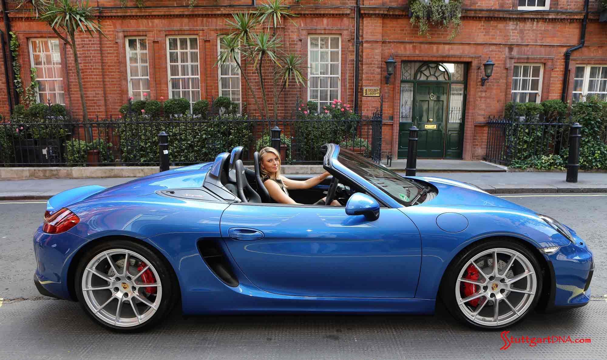 Sharapova-behind-wheel-of-Boxster-Spyder-outside-Porsche-Centre-Mayfair Mesmerizing Porsche 918 Spyder London Ontario Cars Trend