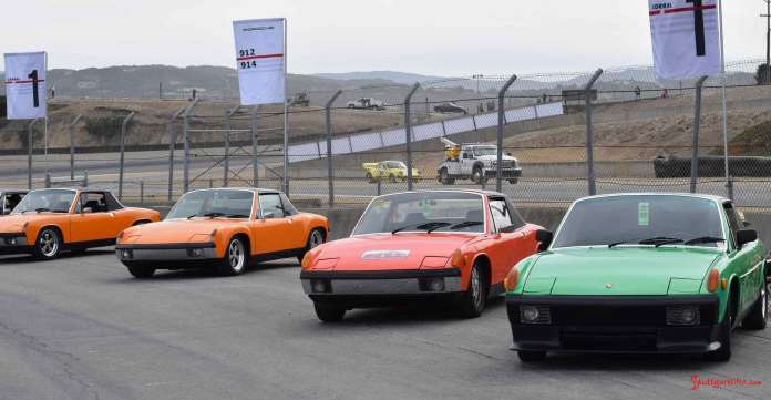 Porsche 914 Okteenerfest: We're at the 914 Corral at 2015 Porsche Rennsport Reunion V, captuing 4 fine 914 specimens. Credit: StuttgartDNA