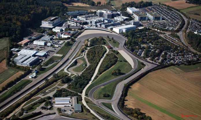 Porsche Weissach Development Center: Weissach 2014 aerial. Credit: Porsche AG